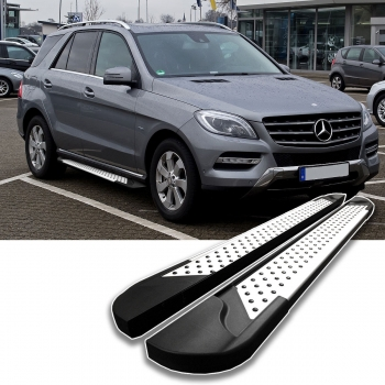 alu trittbretter mercedes ml w166 v edition tuning. Black Bedroom Furniture Sets. Home Design Ideas